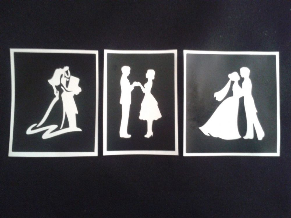 Couples Holding Hands 3 Varieties Stencils For Etching On